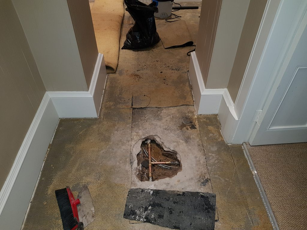 How to find a water leak under concrete